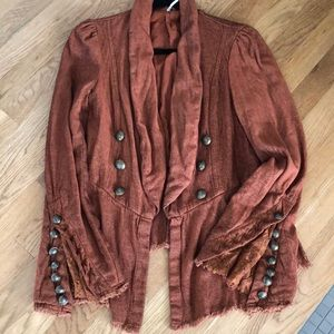 Free People button embellished blazer, XS